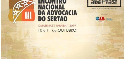 III Encontro Nacional da Advocacia do Sertão será em Cajazeiras